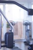 Gym exercise weights machine Stock Image