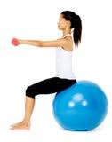 Gym exercise woman Stock Photos