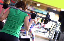 Gym exercises stock image