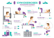 Gym Exercises Infographic Element Vector Design Royalty Free Stock Photos