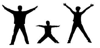 Gym family silhouette Stock Photo