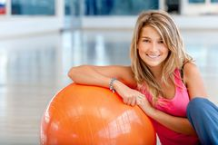 Gym female portrait Royalty Free Stock Photos
