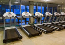 Gym in fitness club Royalty Free Stock Images