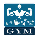 Gym and fitness emblem vector Royalty Free Stock Photo