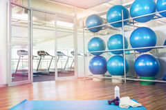 Gym with fitness equipment. And no people Royalty Free Stock Photography