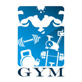 Gym and fitness flat design Royalty Free Stock Photography
