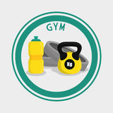 Gym and fitness icons design Royalty Free Stock Photo