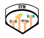 Gym and fitness icons design Stock Photos