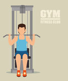 Gym and fitness lifestyle design Stock Photography