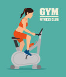 Gym and fitness lifestyle design Royalty Free Stock Image