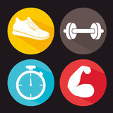 Gym and fitness lifestyle design Stock Photos