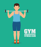 Gym and fitness lifestyle design Stock Image