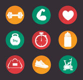 Gym and fitness lifestyle design Stock Images