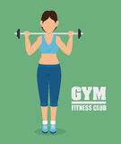 Gym and fitness lifestyle design Stock Photo