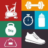 Gym and fitness lifestyle design Royalty Free Stock Images