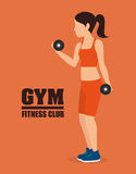 Gym and fitness lifestyle design Royalty Free Stock Photos