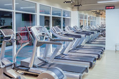 Gym fitness and running machine Royalty Free Stock Photo