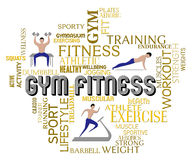 Gym Fitness Shows Work Out And Exercising. Gym Fitness Indicating Physical Activity And Gymnastics Stock Images