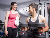 Gym friends Stock Image