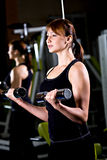 Gym girl Stock Images