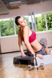 Gym girl Stock Photo