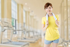 Gym girl Royalty Free Stock Photo