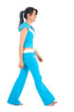 Gym girl walking Royalty Free Stock Image
