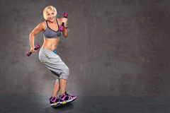 Gym girl Royalty Free Stock Photo