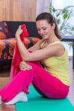 Gym girl Royalty Free Stock Photography