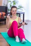 Gym girl Stock Image
