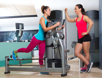 Gym glute exercise machine woman workout Royalty Free Stock Photos