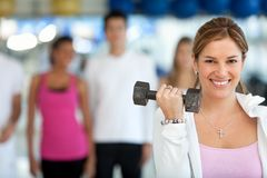 Gym group exercising Royalty Free Stock Photography