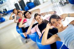 Gym group of people Royalty Free Stock Photo