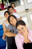 Gym group smiling Royalty Free Stock Photos