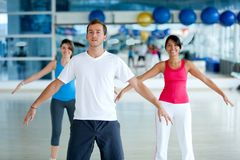 Gym group stretching Stock Image