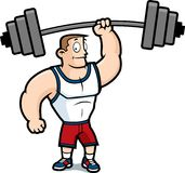 Gym Guy. A strong man lifting a heavy weight Stock Images