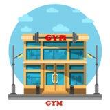 Gym or gymnasium, fitness center architecture Stock Photos