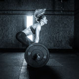 Gym hard training woman. Woman hard   training in gym Stock Photos