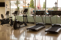 Gym at the hotel. Jogging tracks Stock Images