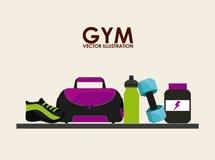 Gym icon Stock Photography