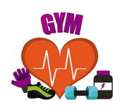Gym icon Royalty Free Stock Photography