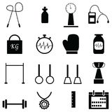 Gym icon set Royalty Free Stock Image