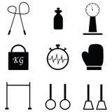 Gym icon set Royalty Free Stock Photography