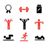 Gym icons Royalty Free Stock Photography