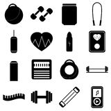 Gym icons set, flat style. Gym icons set. Flat illustration of 16 gym vector icons for web vector illustration