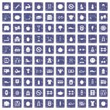 100 gym icons set grunge sapphire. 100 gym icons set in grunge style sapphire color isolated on white background vector illustration royalty free illustration