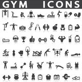 Gym icons Royalty Free Stock Photo