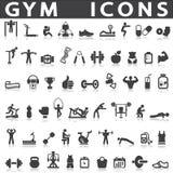 Gym ikony Zdjęcie Royalty Free