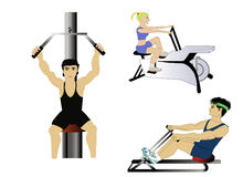 At the gym illustration Royalty Free Stock Images