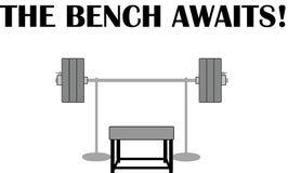 Gym ilustracja na ławki prasie Zdjęcie Royalty Free